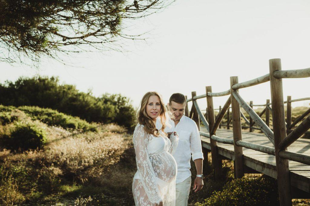 sesion de fotos de embarazo en Marbella